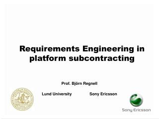 Requirements Engineering in platform subcontracting
