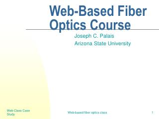 Web-Based Fiber Optics Course