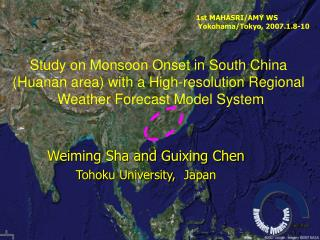 Weiming Sha and Guixing Chen Tohoku University, Japan