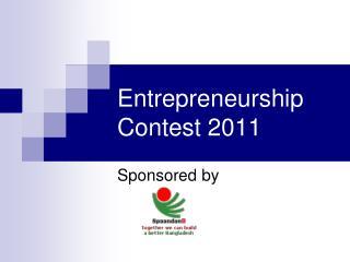 Entrepreneurship  Contest 2011