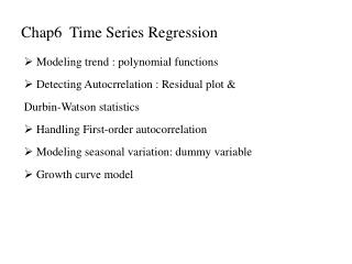 Chap6  Time Series Regression