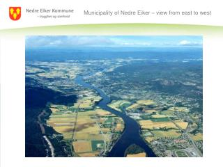 Municipality of Nedre Eiker – view from east to west