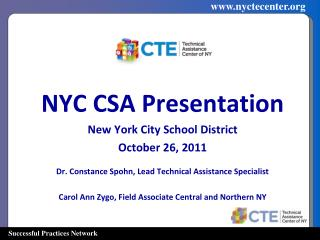 NYC CSA Presentation New York City School District October 26, 2011