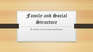 Family and Social Structure