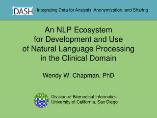 An NLP Ecosystem for Development and Use  of Natural Language Processing  in the Clinical Domain