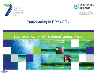 Participating in FP7 (ICT)