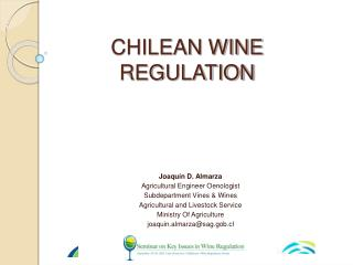 CHILEAN WINE REGULATION