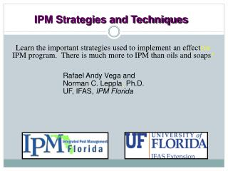 IPM Strategies and Techniques