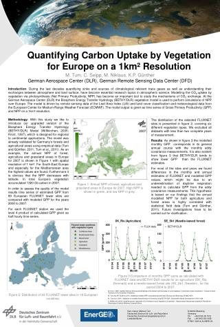 Quantifying Carbon Uptake by Vegetation for Europe on a 1km² Resolution