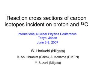 Reaction cross sections of carbon isotopes incident on proton and  12 C