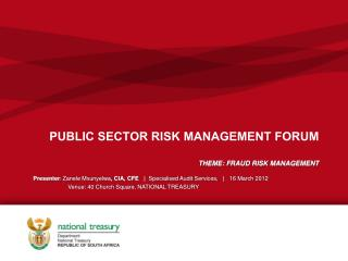 PUBLIC SECTOR RISK MANAGEMENT FORUM