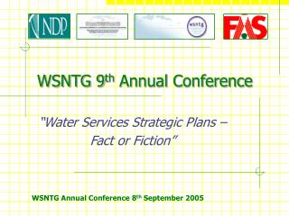 WSNTG 9 th  Annual Conference
