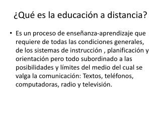 ¿Qué es la educación a distancia?