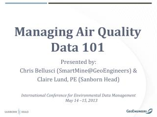 Managing Air Quality Data 101