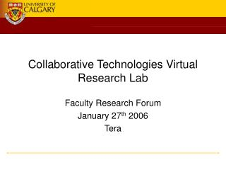 Collaborative Technologies Virtual Research Lab