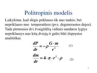 Politropinis modelis