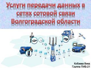 Услуги передачи данных в сетях сотовой связи Волгоградской области