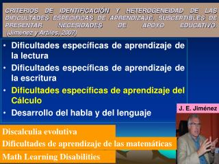 Dificultades específicas de aprendizaje de la lectura