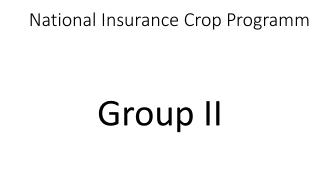 National Insurance Crop  Programm