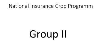 National Insurance Crop  Programm