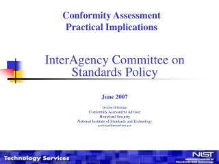 Conformity Assessment Practical Implications