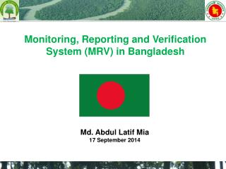 Monitoring, Reporting and Verification System (MRV) in Bangladesh