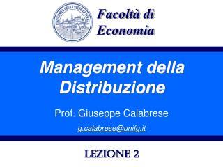 Management della Distribuzione