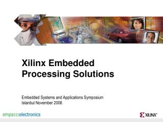 Xilinx Embedded Processing Solutions