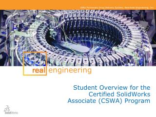 Student Overview for the Certified SolidWorks Associate CSWA Program