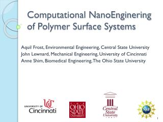 Computational NanoEnginering of Polymer Surface Systems