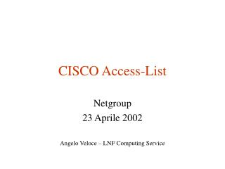 CISCO Access-List