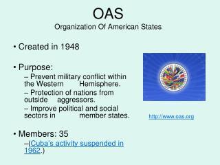 OAS Organization Of American States