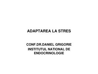 ADAPTAREA LA STRES