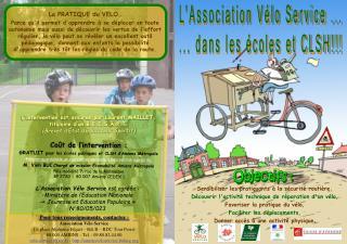 Pour tous renseignements, contactez : Association V lo Service 13, place Alphonse Fiquet   B t B   RDC Tour Perret 80 00