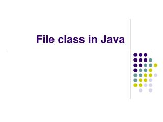 File class in Java