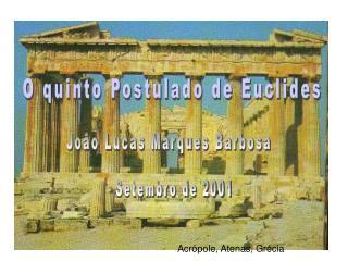 O quinto Postulado de Euclides