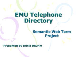 EMU Telephone Directory