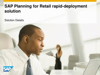 SAP Planning for Retail rapid-deployment solution