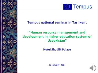 Tempus national seminar in Tashkent