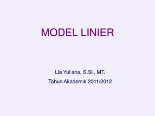 MODEL LINIER