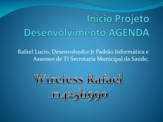 Inicio Projeto Desenvolvimento AGENDA
