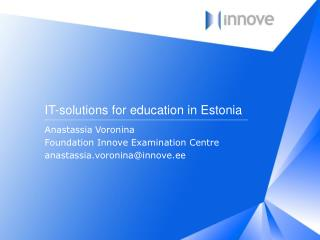 IT- solutions for education  in Estonia