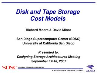 Disk and Tape Storage Cost Models