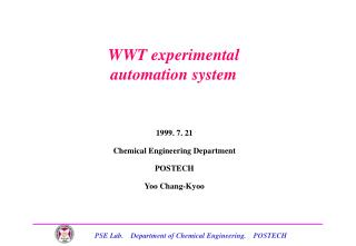 WWT experimental  automation system