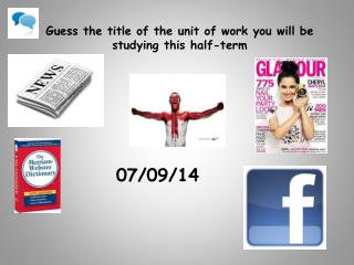 Guess the title of the unit of work you will be studying this half-term