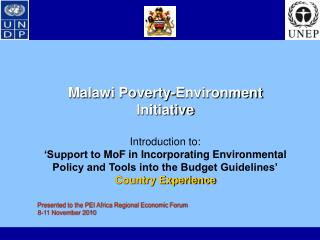 Malawi Poverty-Environment Initiative
