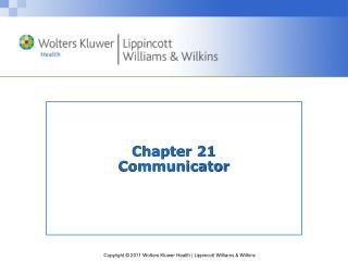Chapter 21 Communicator