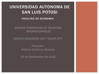 UNIVERSIDAD AUTONOMA DE SAN LUIS POTOSI