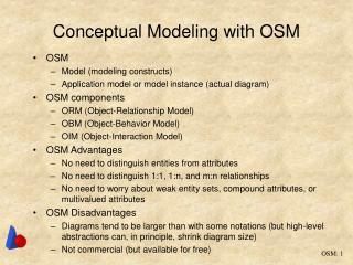 Conceptual Modeling with OSM