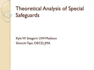 Theoretical Analysis of Special Safeguards